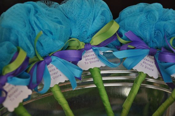 Unique Baby Shower Favor Purple Turquoise and by KristinsWhimsy