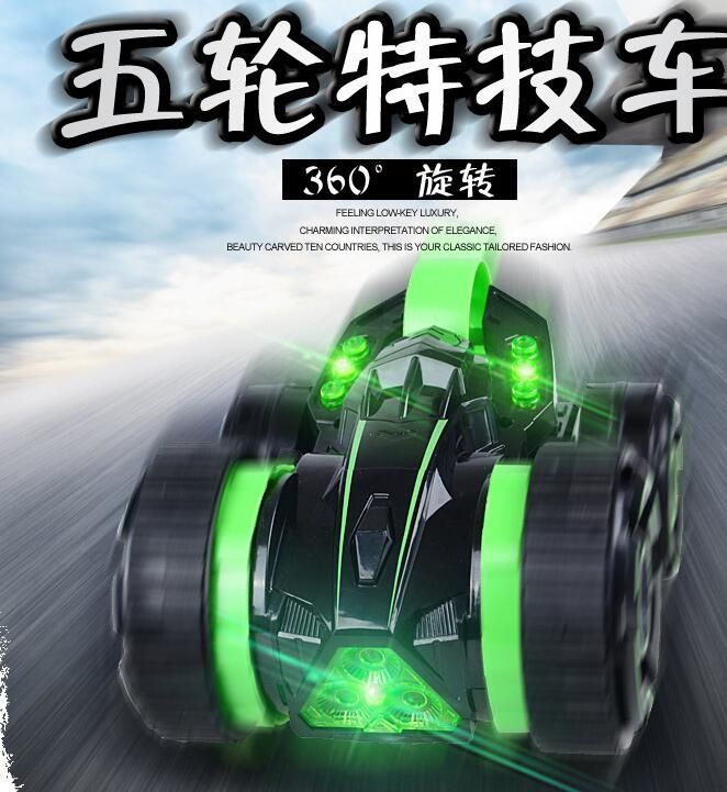 54.35$  Watch now - http://ali9y0.shopchina.info/go.php?t=32807135458 - 5 wheel Stunt  4ch stunt remote control Car 360 degree rotation Fancy tumbling toy Flip Stunt Car toys for child gifts 54.35$ #aliexpressideas