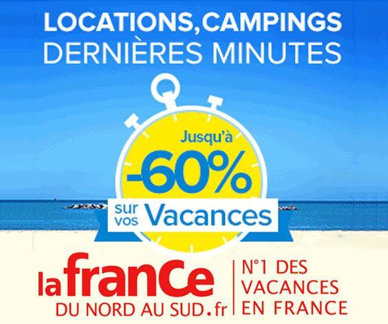La France du Nord au Sud propose des réservations de dernières minutes à tarif négocié : locations de vacances pour retardataires, séjours à bon prix dans les campings, mobile-home, chalets, maisons...