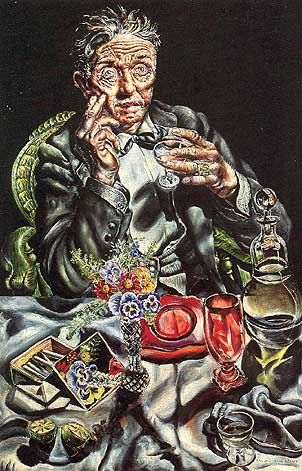 Self Portrait Drinking - Ivan Albright
