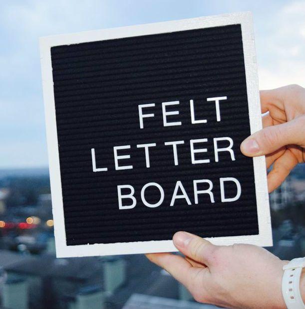 best 25 felt letter board ideas on pinterest letter With best felt letter board