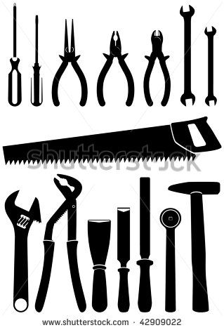 Carpentry Tools Google Search Tool Silhouettes Vectors Clipart
