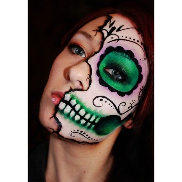 Day Of The Dead Makeup Men Half Face 70285 Loadtve