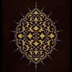 Şemse 12 x 9 cm. #islamicart #rumi #şemse #tezhip #tazhib #tezhipsanati
