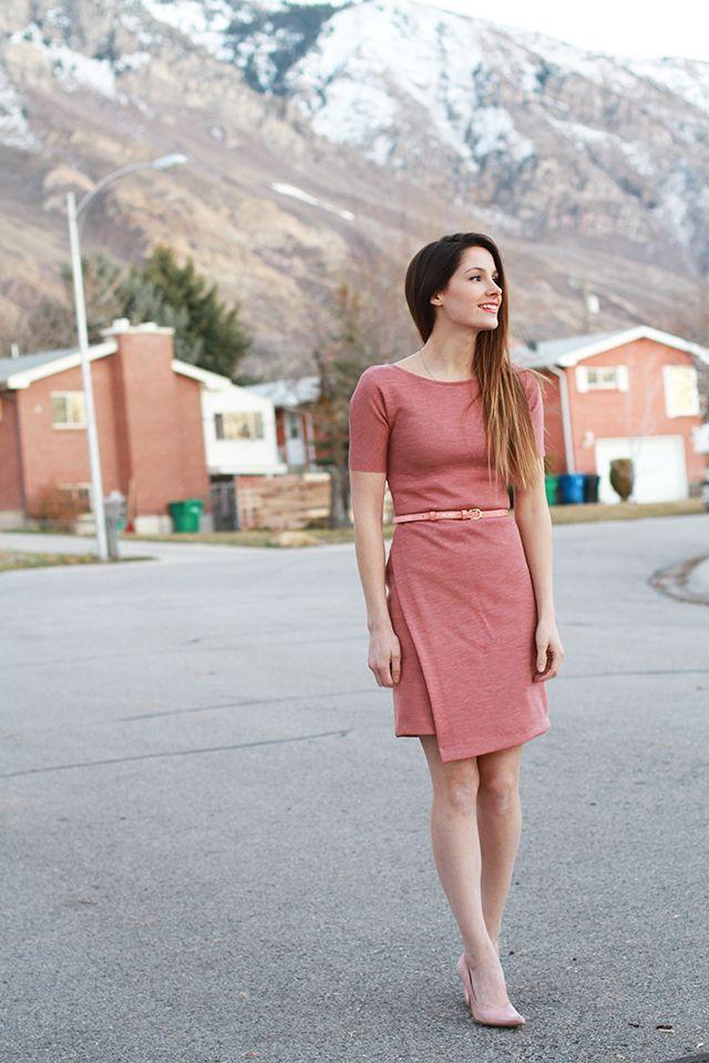 DIY ASYMMETRICAL KNIT SHEATH DRESS