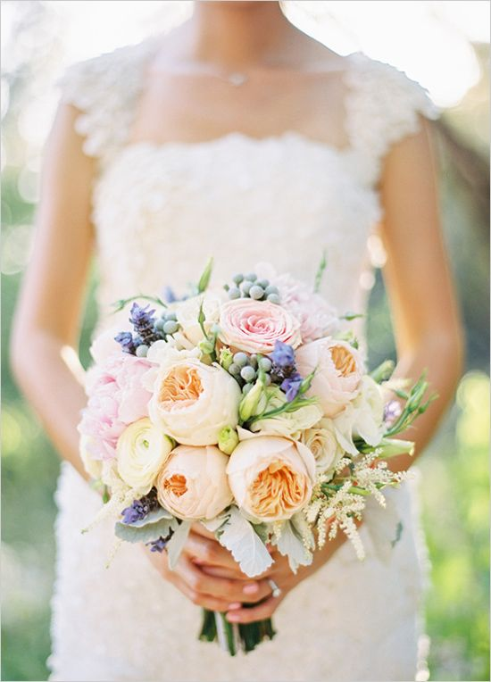 Spring time wedding bouquet…I love this and it's so different than the peacock themed bouquets that I also like.  Ahhhh! Decisions! @Samya Rafferty Rafferty Shunnarah