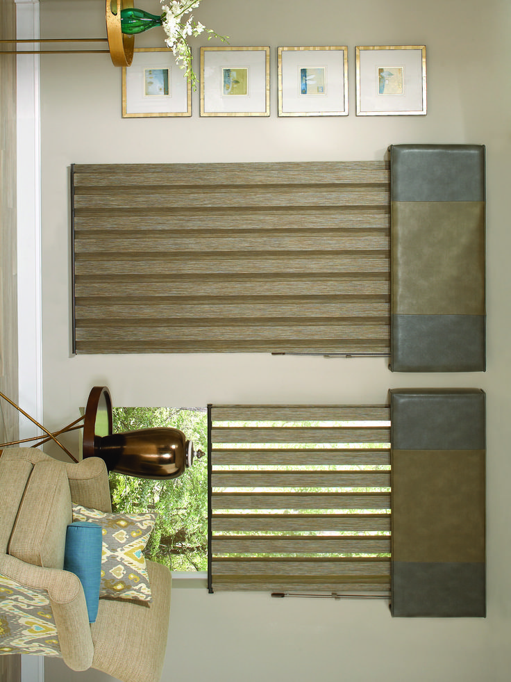Lafayette's Allure Visionaire Transitional Shades offer you the privacy of a window shade with the softened view of a sheer without raising or lowering the shade. Windows Dressed Up in Denver has a large variety of window blinds, shutters and shades to fit any budget. Stop by our showroom at 38th on Tennyson St. Find more window treatment ideas & designs on our site.