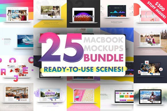 25 MacBook™ Mockups Bundle by eppearance on @creativemarket