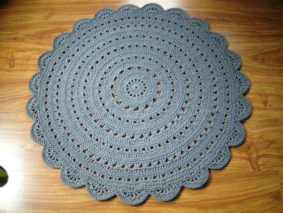 Round crochet doily rug / crochet carpet / by CrochetFolkArt