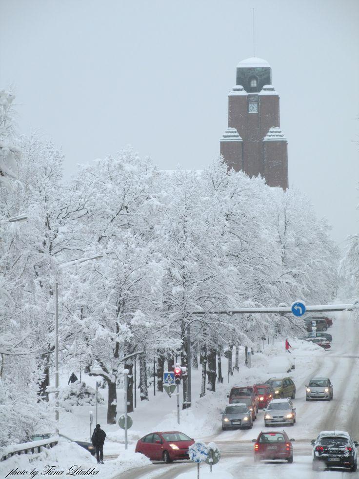 Winter in LAHTI, Finland. City hall,  Photo by tiina Litukka 3.2.2015
