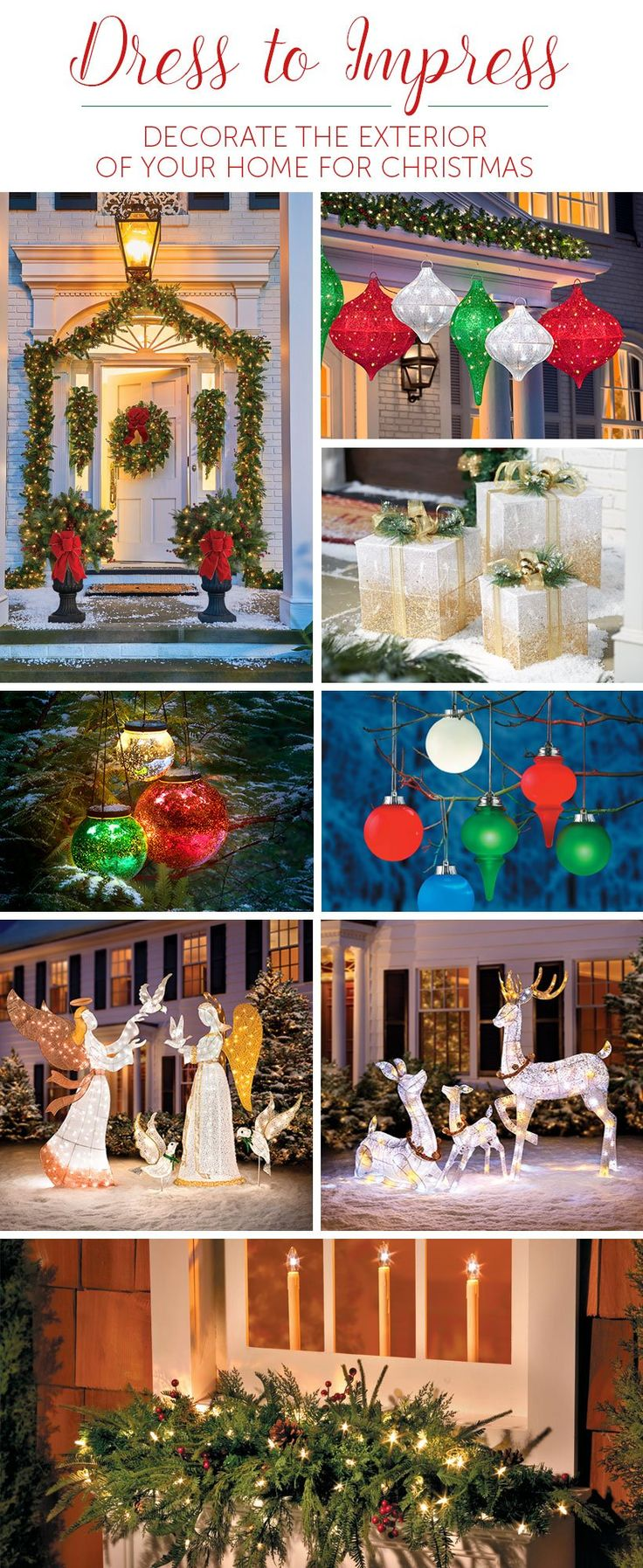 Show everyone your holiday spirit by lighting up your neighborhood with outside Christmas decor!