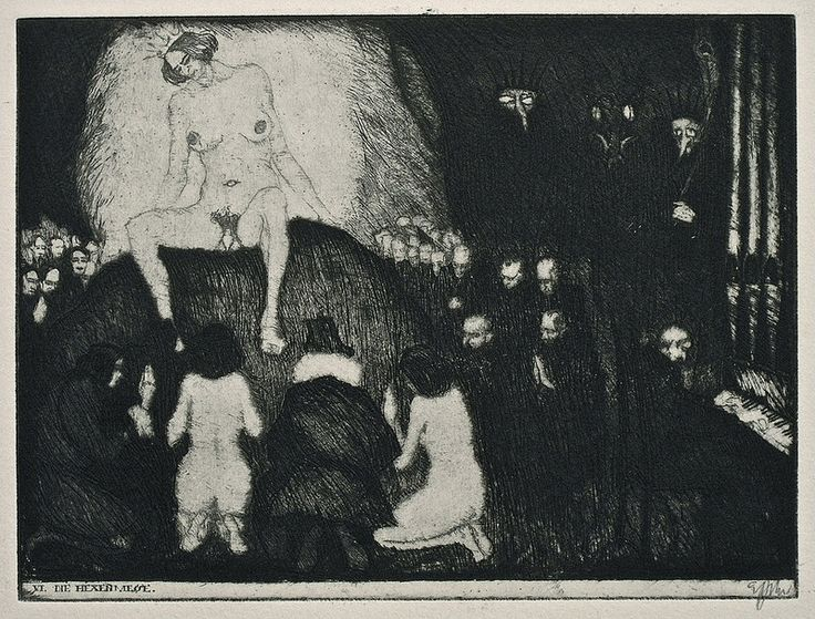 Stefan Eggeler - The Walpurgisnacht Portfolio (six etchings after Gustav Meyrinks) 1922 (3)