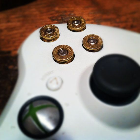 Xbox 360 bullet buttons 9mm rounds handmade by DieselLaceDesign