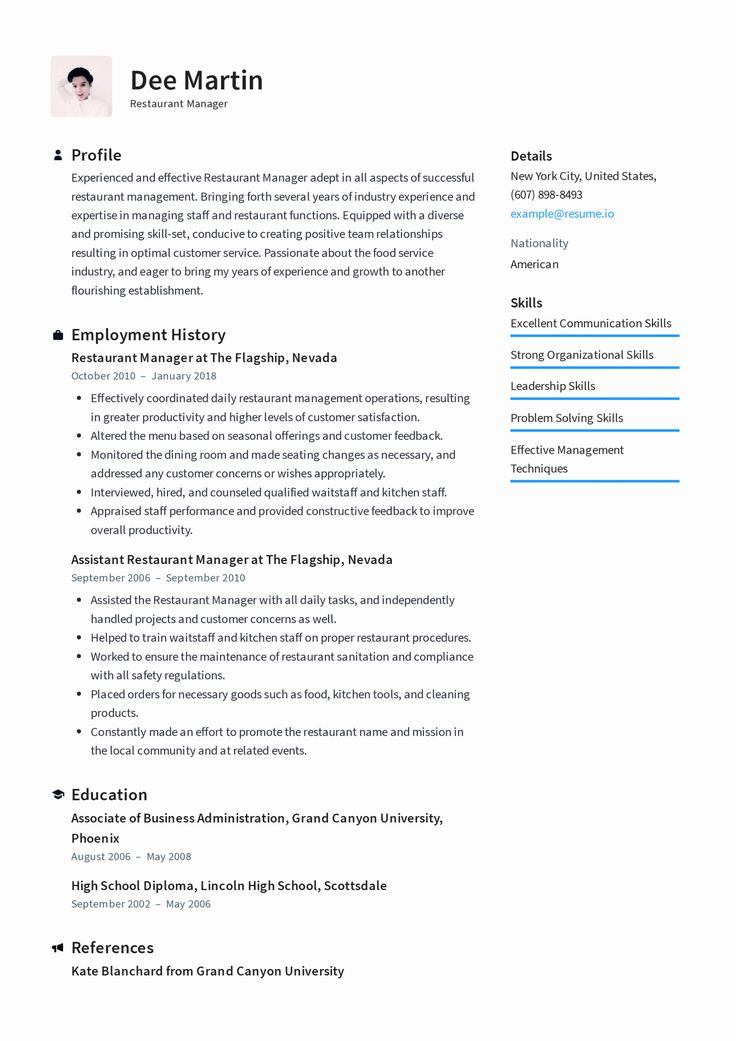 Restaurant Manager Resume Examples Fresh Restaurant