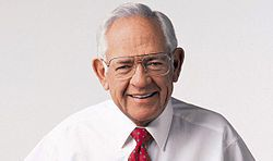 Dave Thomas was the founder and chief executive officer of Wendy's, and was born in Atlantic City  and adopted at 6 weeks old