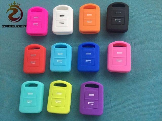 Silicone Key Case Cover For Opel Corsa Agila Meriva Fob Remote Holder 2 Button