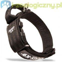 JULIUS K9 Czarna obroża dla psa 40mm z zamykanym uchwytem i bezpiecznym zapięciem 38-53 cm