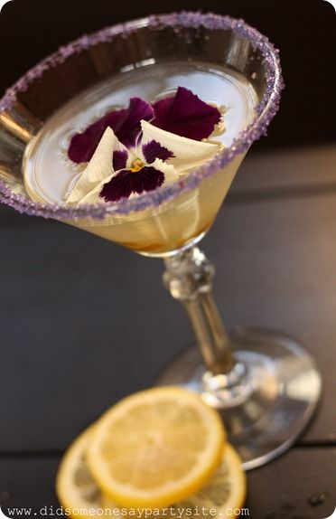 Candied lemon drop martini