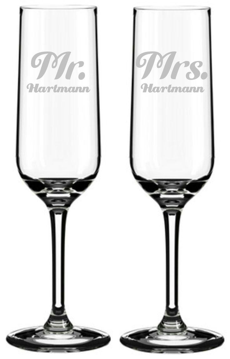 2 Sektgläser Gravur Mr. & Mrs.  #lasergravur #engraved #hochzeit #geschenk