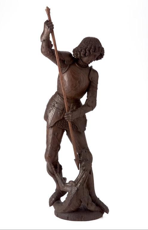 Saint Georges terrassant le dragon, Bruxelles, fin du XVe siècle ou début du XVIe siècle. MAD 1501. Don Damiron, 1951. © Musée des Arts décoratifs de Lyon, Pierre Verrier.