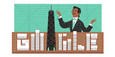 Awesome Google Doodle in honor of pioneering Bangladeshi-American engineer