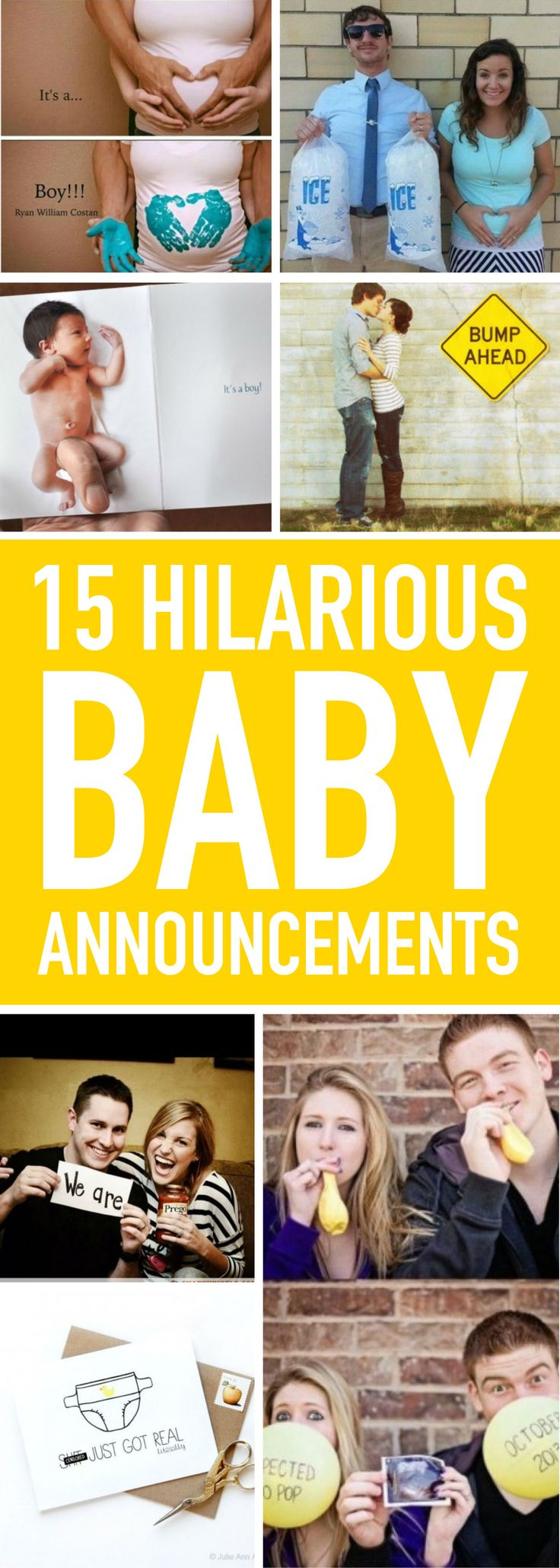 From the outrageous to the tug-at-your-heartstrings, we've rounded up some clever baby announcements!
