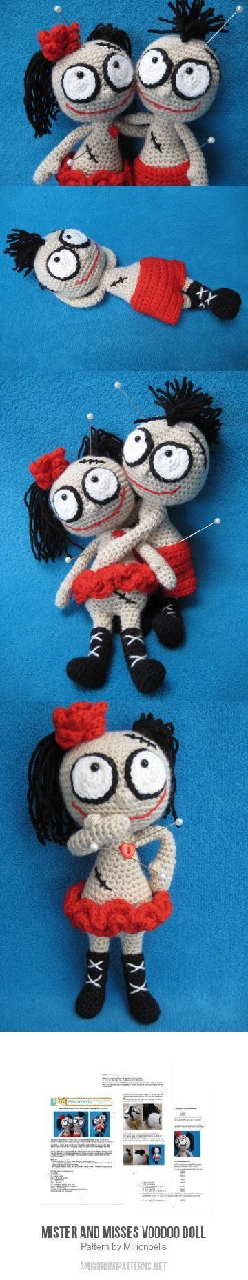 Mister And Misses Voodoo Doll Amigurumi Pattern