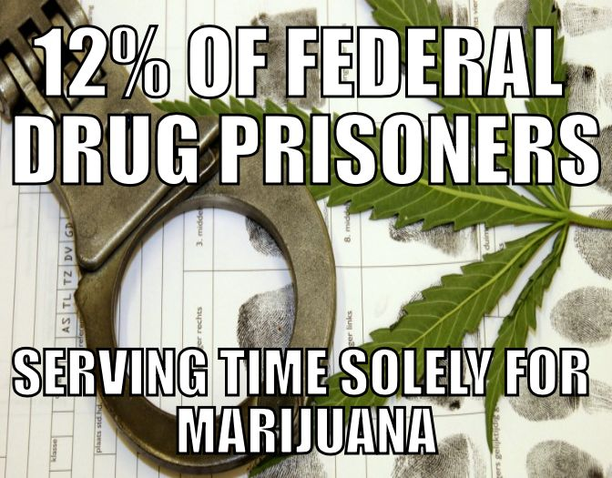 Over 11,000 Americans In Federal Prisons Solely for Marijuana