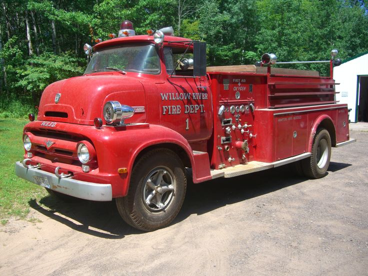 1956 Ford Fire Truck : Best images about my husbands fire trucks on pinterest