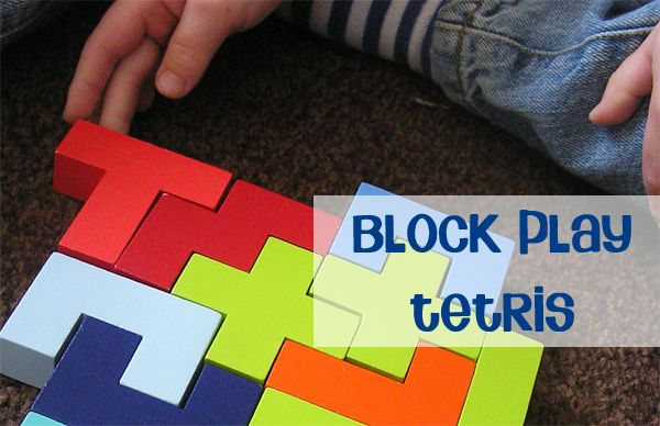 Block Play - Tetris for kids, fantastic for problem solving on Rainy Day Mum  So need to get these blocks!!