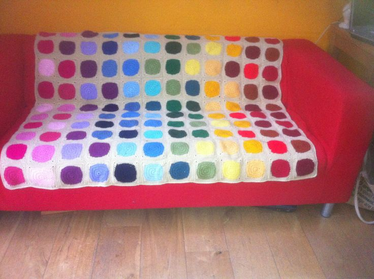 Rainbow crochet blanket for Edie's 13th birthday