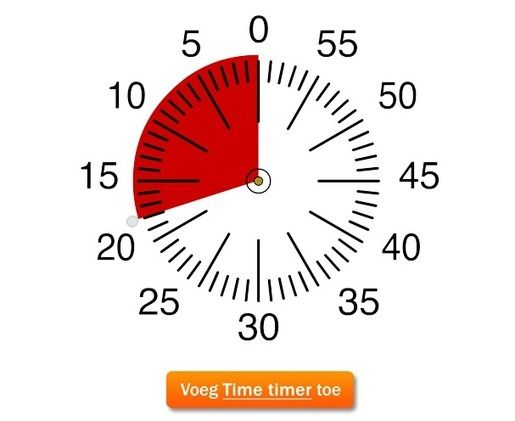 Als je een digitaal schoolbord in de klas hebt is deze app ontzettend interessant. Je kunt de tijd die de leerlingen krijgen om een oefening te maken instellen. Zo zien de leerlingen hoeveel tijd ze nog hebben om de oefening af te werken.