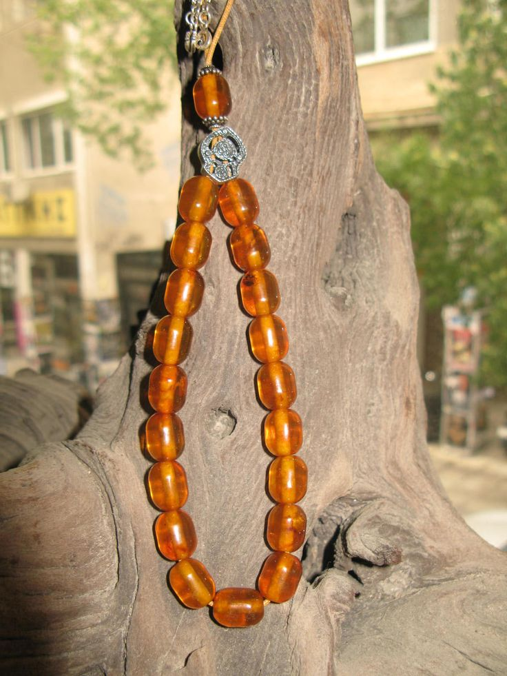 32g vintage misbaha ORIGINAL BALTIC AMBER a upgraded silver components free amber imam by spyrinex06 on Etsy