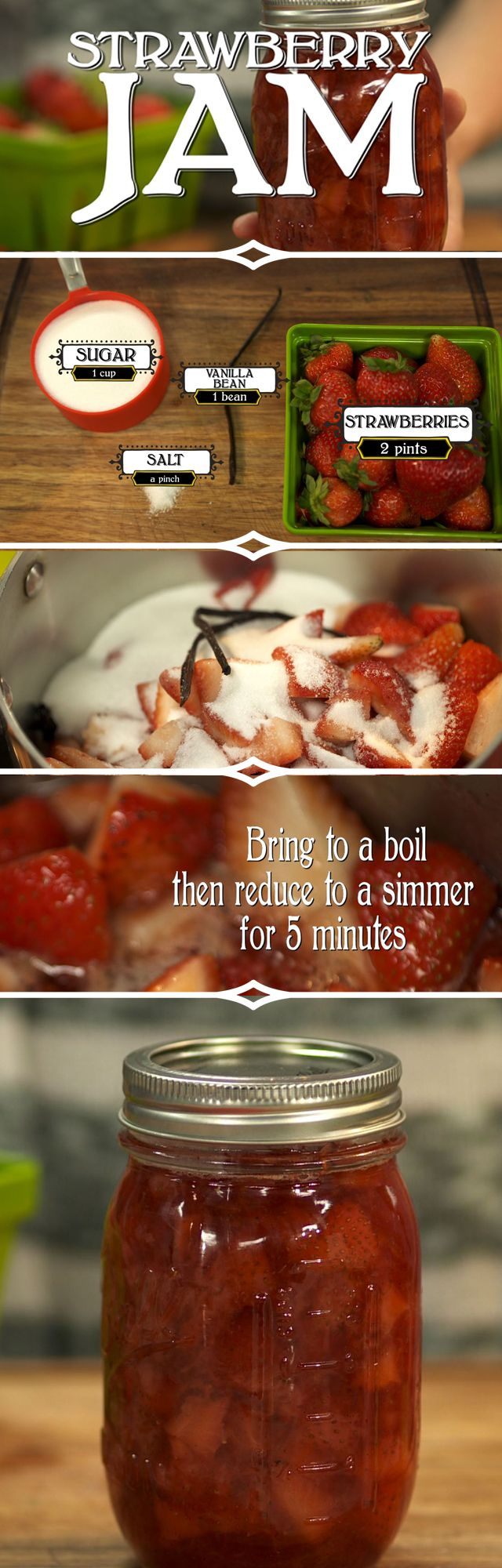 Make your own sweet strawberry jam.