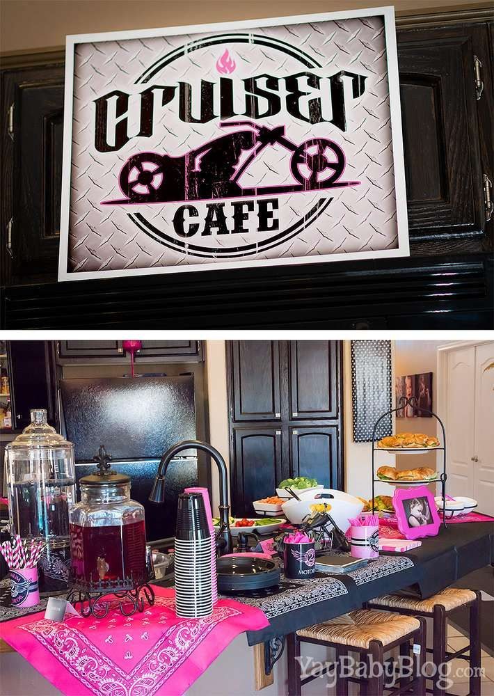Biker Chic Birthday Party Ideas | Photo 7 of 23 | Catch My Party