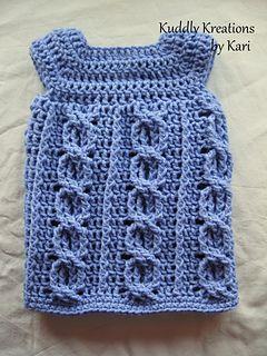Free Crochet Pattern:  Cabled Love Dress by Kari Philpott