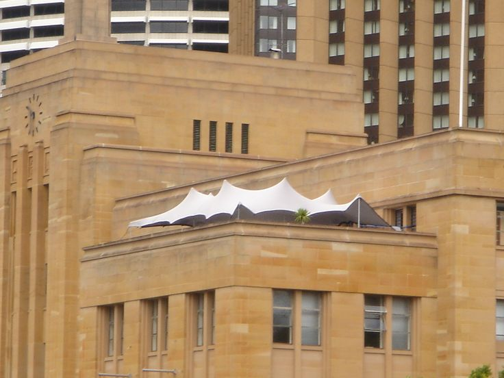 Rooftop stretch tents