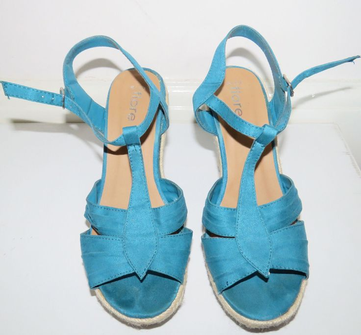 I've ordered these teal wedge sandles, but they'll possibly be too chunky. :)   iFore Teal Wedges with t-bar straps - Size 6   eBay