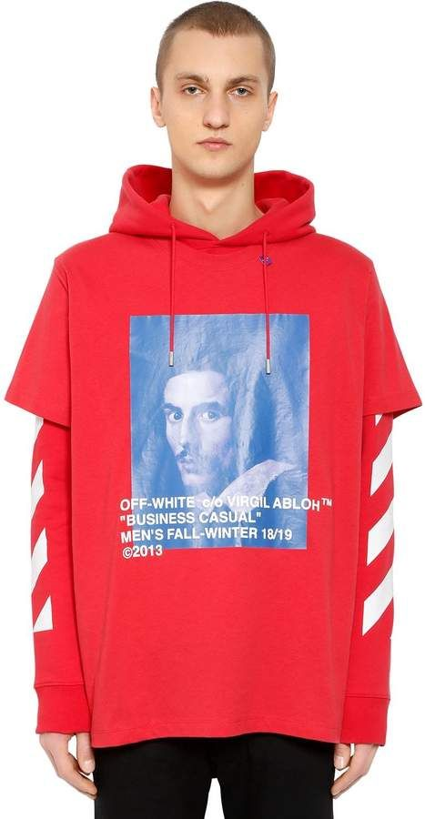 afc1d3b4c Off-White Bernini Print Layer Sweatshirt Hoodie | Products | Hoodies ...