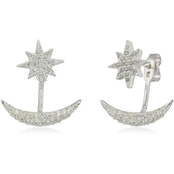Lucky Brand Moon And Star Jacket Earrings ($32) ❤ liked on Polyvore featuring jewelry, earrings, earring jewelry, star jewelry, lucky brand earrings, star earrings and lucky brand jewellery
