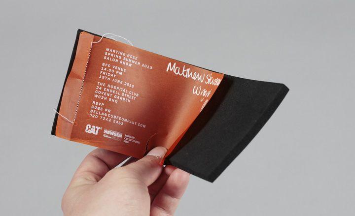 Men's fashion week S/S 2013 show invitations