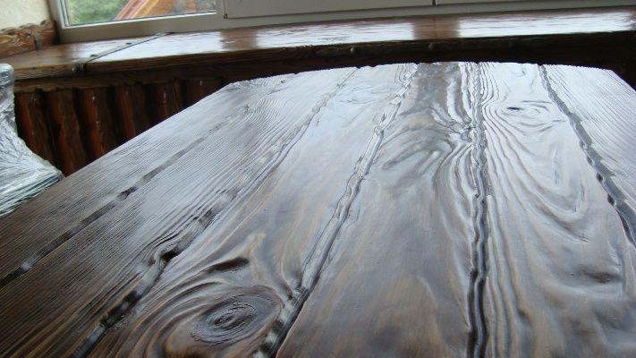 Искуственное состаривание древесины