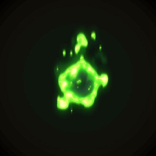 Green Fireball Animation by AlexRedfish