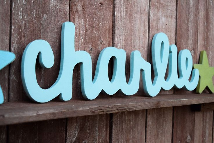 Charlie Baby Name Wooden Sign - Nursery Decor - Shabby chic nursery - Baby name signs by lucysletters123 on Etsy