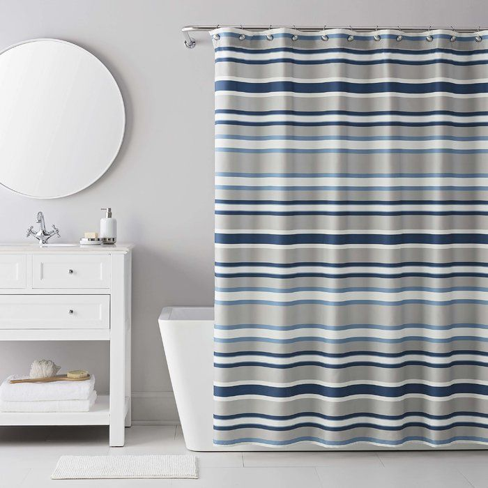 13 Piece Bradley Stripe Shower Curtain Set With Images Striped