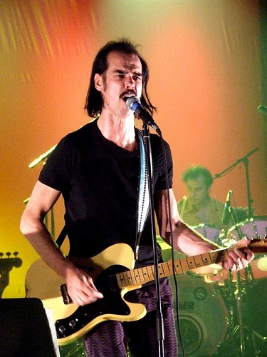 """Grinderman; Nick Cave, """"I wanted to get a guitarist in for Grinderman, but Warren said, 'Look, I'm not going to be in this band if you don't play the guitar',"""" Cave reveals. """"He pushed me into doing it.""""  The sound is surprisingly able, despite Cave declaring that he picked up the instrument for the first time just a month before the album was recorded...The Age Australia, 2007 interview"""