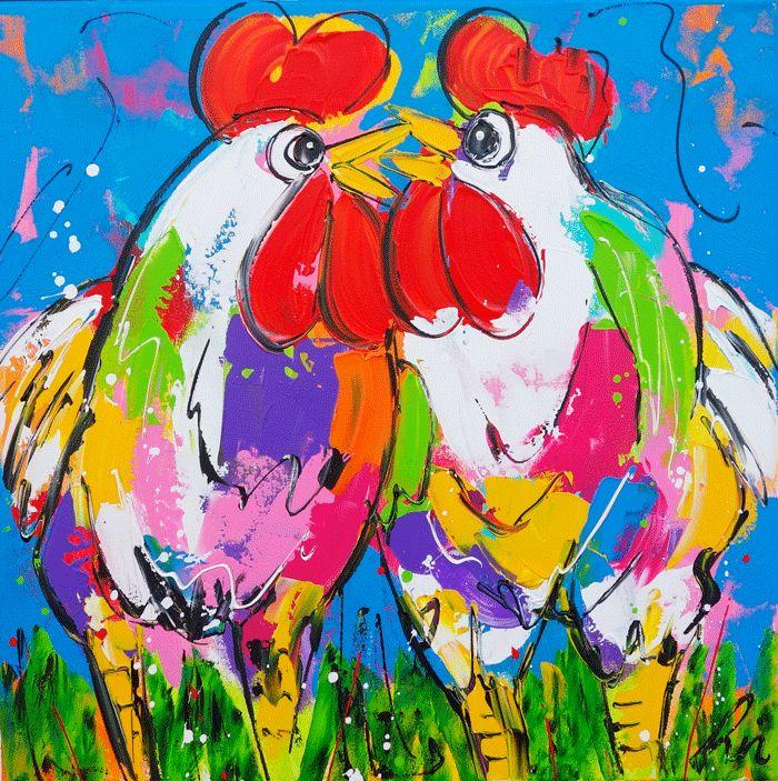 Kippen schilderijen