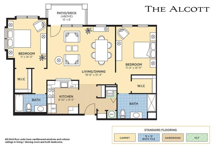 The Alcott Floorplan