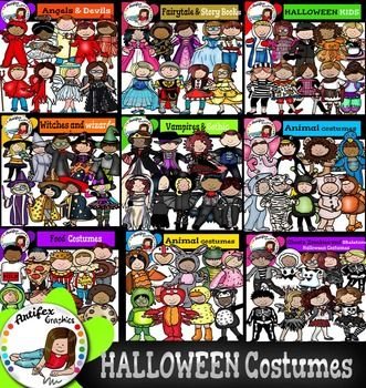 This bundle contains 164 images!!!You can see a preview here:  Halloween Costumes Kids Mega Bundle  *50% off for the first 48 hours*Halloween Costumes Kids Mega Bundle Black and white versions are included as well!The Following Included Sets Are Also Sold Seperately:Halloween Costumes Kids Mega Bundle includes these 9 packs: Angels & Devils (NEW SET) Food Costumes (NEW SET)  Halloween Kids (NEW SET) Kids Animal Costumes1 (NEW SET) Kids Animal Costumes2 (NEW SET) Kids Fairytale & Story...