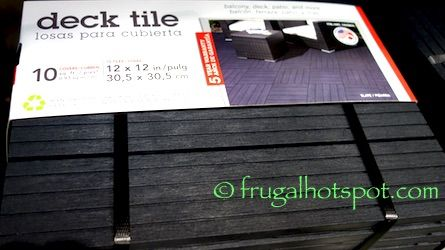 Multy Home Urbana Deck Tile 10-Pack. #Costco #FrugalHotspot